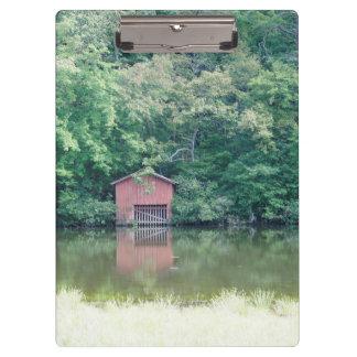 アラバマのボートハウス クリップボード