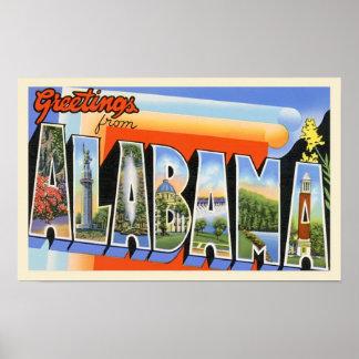 アラバマのヴィンテージの挨拶 ポスター