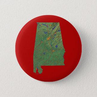 アラバマの地図ボタン 5.7CM 丸型バッジ