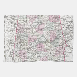 アラバマの地図 キッチンタオル