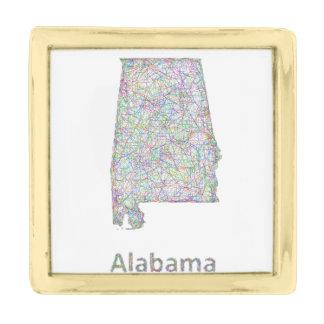 アラバマの地図 金色 ラペルピン