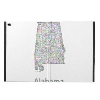 アラバマの地図 POWIS iPad AIR 2 ケース