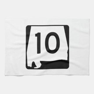 アラバマの州のルート10 キッチンタオル