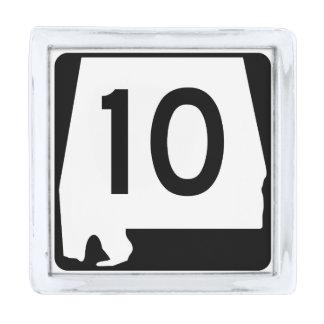 アラバマの州のルート10 シルバー ラペルピン