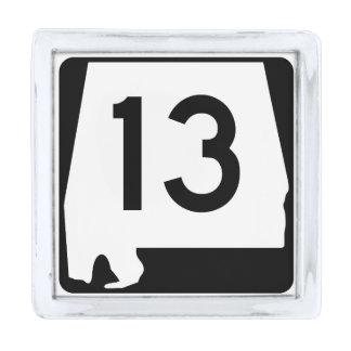 アラバマの州のルート13 銀色 ラペルピン