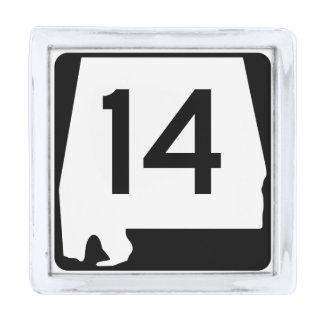アラバマの州のルート14 シルバー ラペルピン