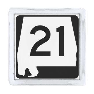 アラバマの州のルート21 銀色 ラペルピン