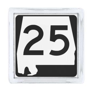 アラバマの州のルート25 銀色 ラペルピン