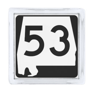アラバマの州のルート53 銀色 ラペルピン