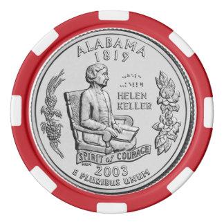 アラバマの州の四分の一 ポーカーチップ