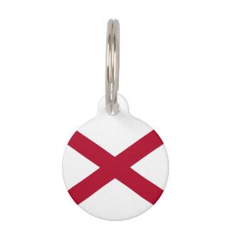 アラバマの州の旗 ペット ネームタグ