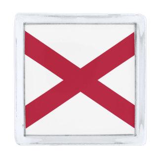 アラバマの州の旗 銀色 ラペルピン