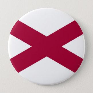 アラバマの州の旗 10.2CM 丸型バッジ