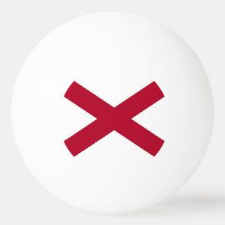 アラバマの旗が付いている愛国心が強いピンポン球 卓球ボール