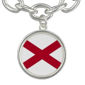 アラバマの旗が付いている愛国心が強い魅力のブレスレット チャームブレスレット