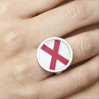 アラバマの旗が付いている愛国心が強く、特別なリングや輪 指輪