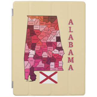 アラバマの旗そして地図 iPadスマートカバー