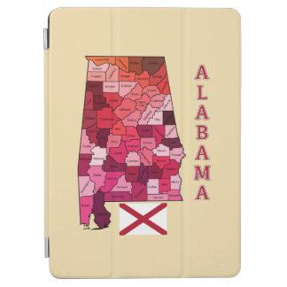 アラバマの旗そして地図 iPad AIR カバー