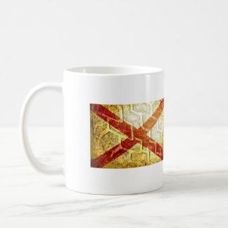 アラバマの旗の踏面印のグランジなギア コーヒーマグカップ