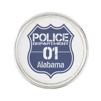 アラバマの警察の盾01 ラペルピンブローチ