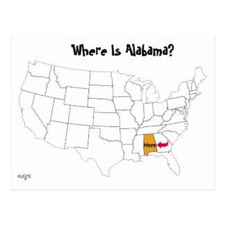 アラバマはどこにありますか。 ポストカード