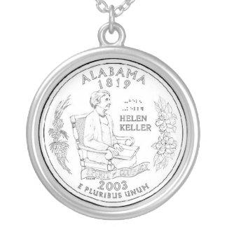 アラバマ シルバープレートネックレス