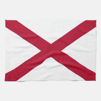 アラバマ、米国の旗が付いている台所タオル キッチンタオル