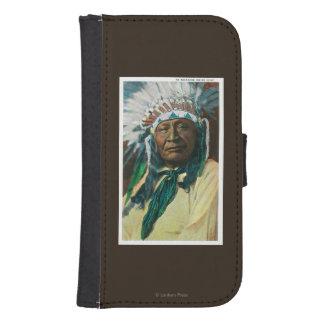 アラパホー族のインディアンの酋長PortraitColorado ウォレットケース