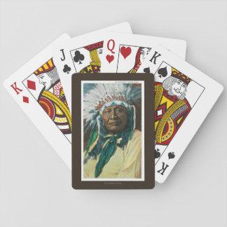 アラパホー族のインディアンの酋長PortraitColorado トランプ