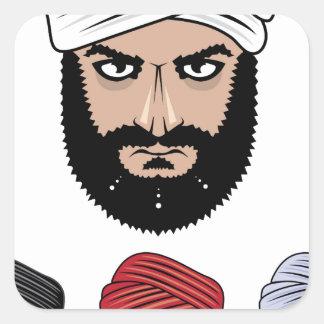 アラビアのイスラム教のベクトル スクエアシール