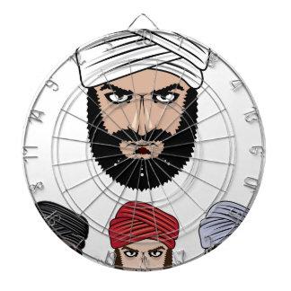 アラビアのイスラム教のベクトル ダーツボード
