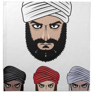 アラビアのイスラム教のベクトル ナプキンクロス
