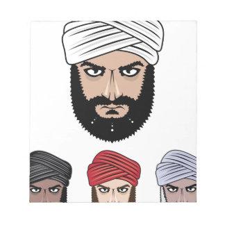 アラビアのイスラム教のベクトル ノートパッド