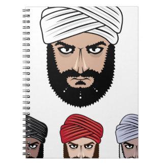 アラビアのイスラム教のベクトル ノートブック