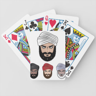 アラビアのイスラム教のベクトル バイスクルトランプ