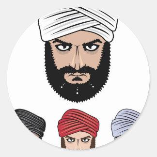 アラビアのイスラム教のベクトル ラウンドシール