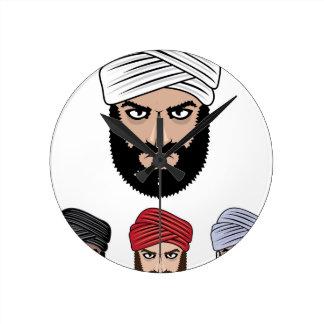 アラビアのイスラム教のベクトル ラウンド壁時計