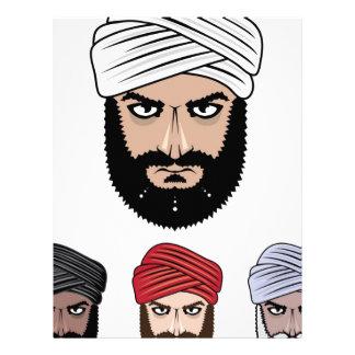 アラビアのイスラム教のベクトル レターヘッド