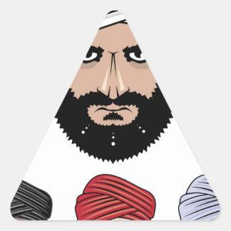 アラビアのイスラム教のベクトル 三角形シール