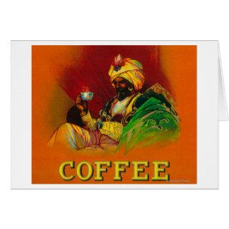 アラビアの人のコーヒーラベル カード