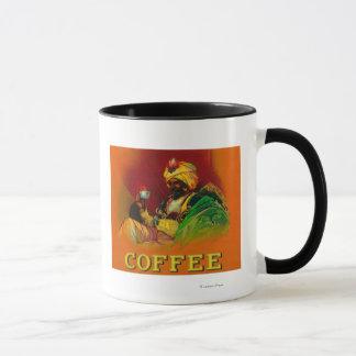 アラビアの人のコーヒーラベル マグカップ