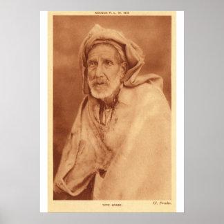 アラビアの人、20世紀初頭 ポスター