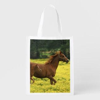 アラビアの子馬およびロバのランニング エコバッグ