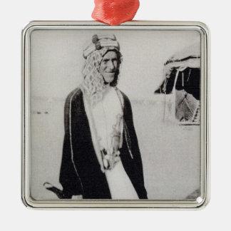 アラビアの服(b/wの写真)のT.E.ローレンス メタルオーナメント
