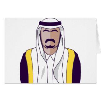 アラビアの王子のベクトル カード