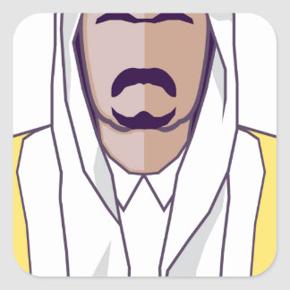 アラビアの王子のベクトル スクエアシール