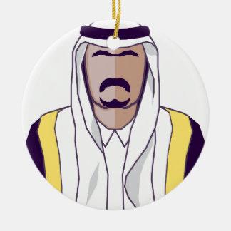 アラビアの王子のベクトル セラミックオーナメント