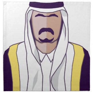 アラビアの王子のベクトル ナプキンクロス