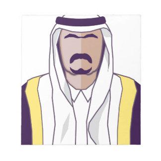 アラビアの王子のベクトル ノートパッド