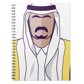 アラビアの王子のベクトル ノートブック